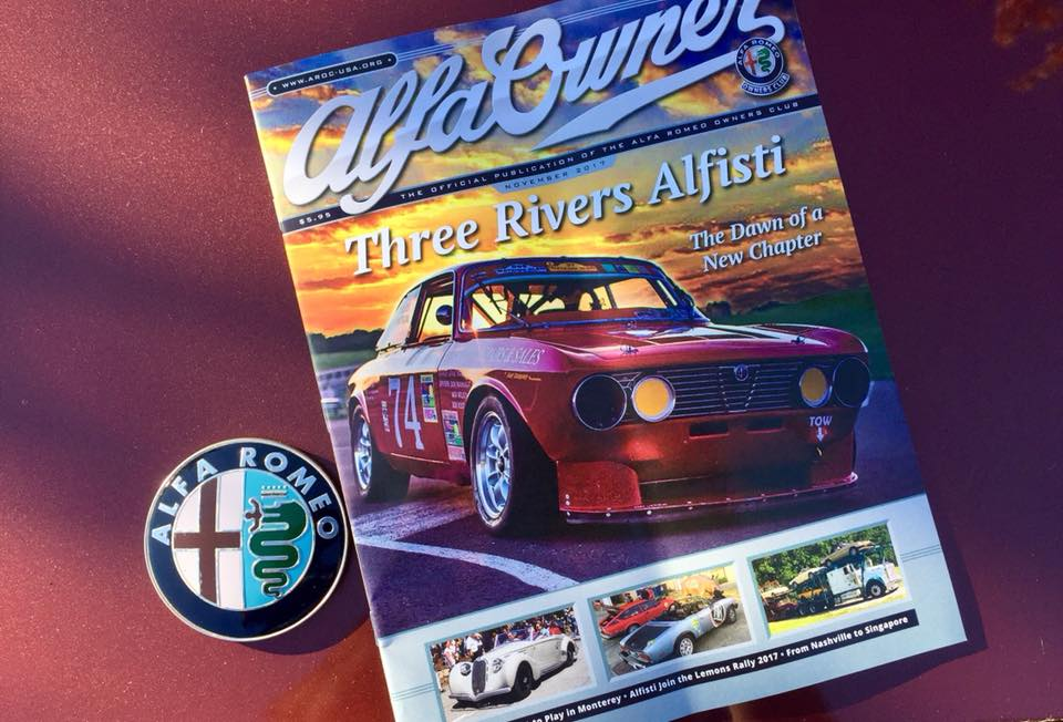 Three Rivers Alfisti Alfa Romeo Owners Club Magazine Cover
