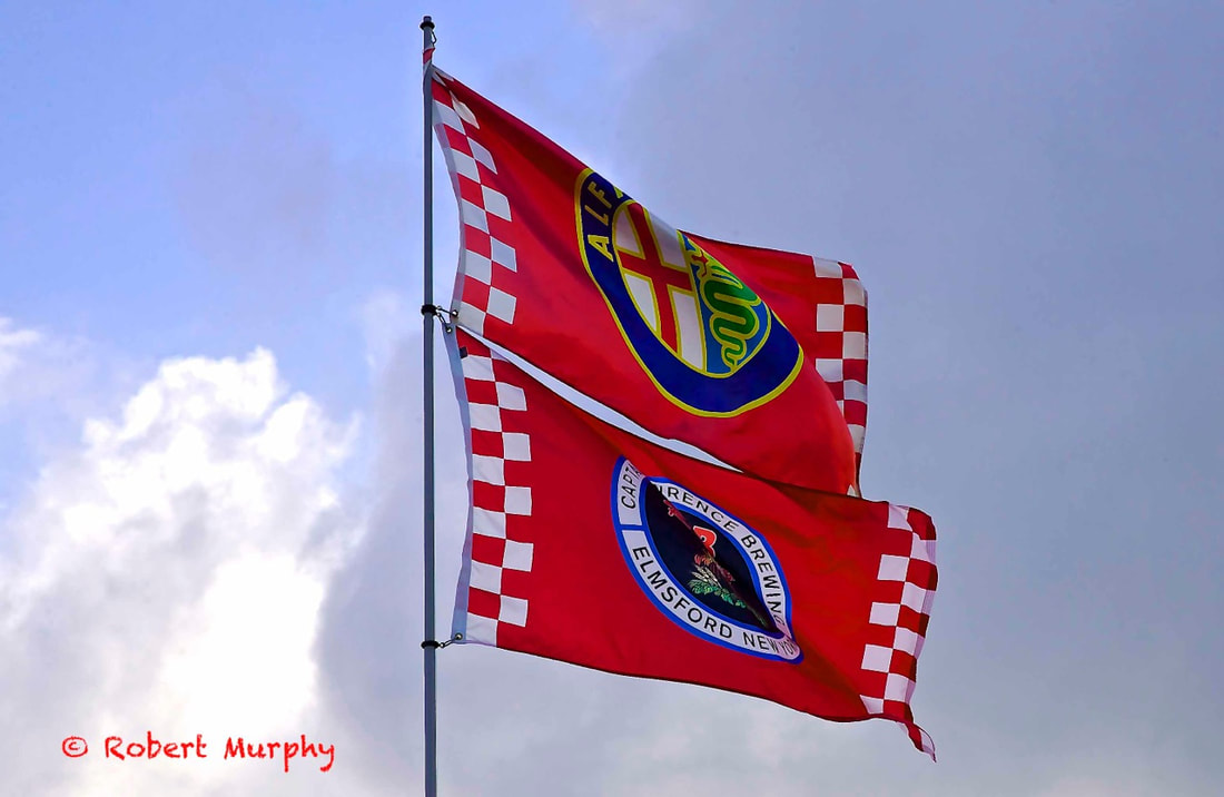 Captain Lawrence Brewery Alfa Romeo Flags
